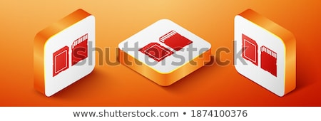 Isometric Memory Micro Secure Digital with Adapter Stock photo © ridjam