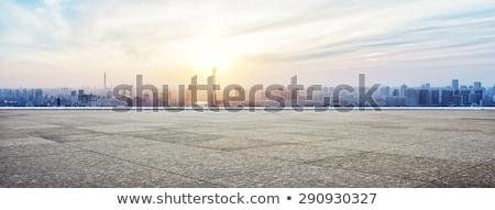 siluet · ikon · vektör · ufuk · çizgisi · modern - stok fotoğraf © -baks-