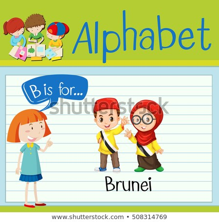 письме Бруней иллюстрация детей фон искусства Сток-фото © bluering