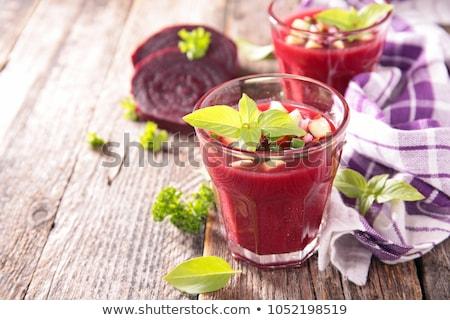 ビートの根 ガラス 背景 冷たい 野菜 ダイエット ストックフォト © M-studio