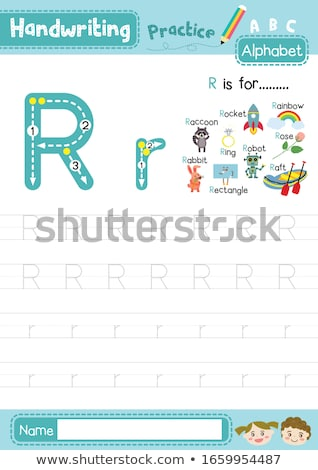 Flashcard letter R is for robot Stock photo © bluering