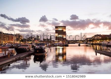 Mooie uitzicht op straat oude binnenstad België bouw wereld Stockfoto © ilolab