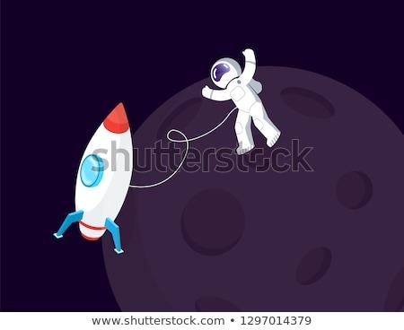 宇宙飛行士 衛星 実例 ボディ 地球 スペース ストックフォト © bluering