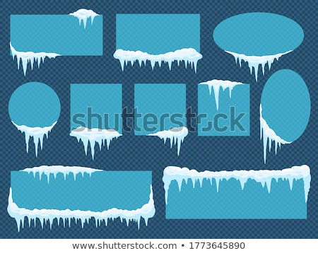 set of different frozen snowflakes on transparent background stock photo © evgeny89