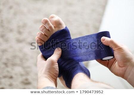 A blue bandage Stock photo © bluering