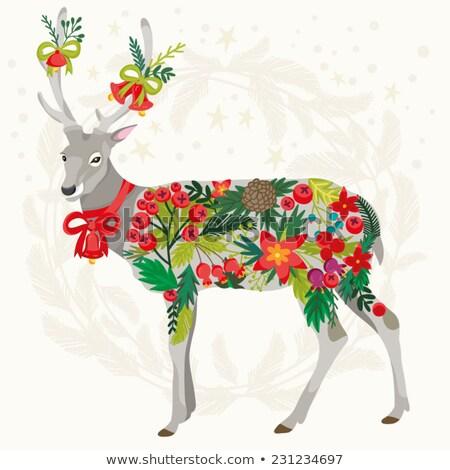 Elképesztő karácsonyi üdvözlet retró stílus absztrakt terv hó Stock fotó © balasoiu