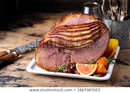 Baked ham slices Stock photo © Digifoodstock