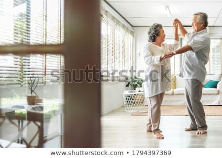 Seven yaşlı çift sevgililer günü ayakta Stok fotoğraf © ozgur