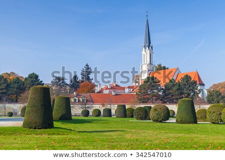 Catholic parish church maria hietzing near schonbrunn palace Stock photo © frimufilms