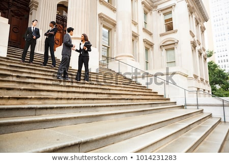 üzlet · integráció · felirat · kék · háttér · pénzügy - stock fotó © oakozhan