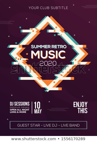 awesome music party event flyer template with colorful shapes Stock photo © SArts