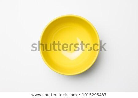 желтый чаши пусто белый чистой современных Сток-фото © Digifoodstock
