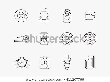 Automobile Gear Icon Stock photo © sdCrea