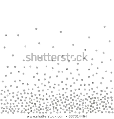 Random Falling Silver Dots Background Stock photo © creativika
