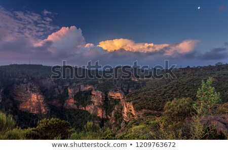 Sunset views from Norths Lookout Katoomba Stock photo © lovleah