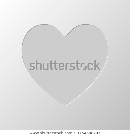 Human heart cut out of paper Stock photo © Tefi
