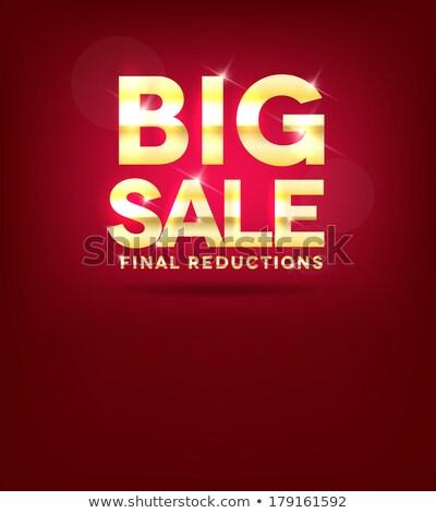 Brilhante vermelho grande venda cartaz belo Foto stock © Tefi