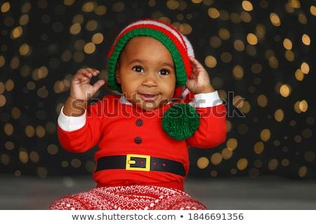 Manó baba karácsony illusztráció zöld Stock fotó © adrenalina