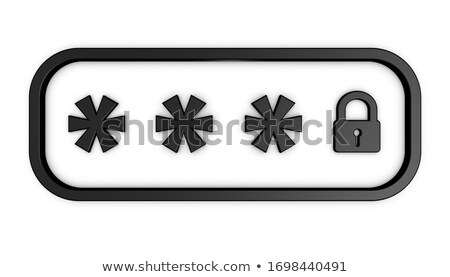 Unlocked smartphone. Security concept. Isolated on a white and black background 3d Illustration Stock photo © tussik