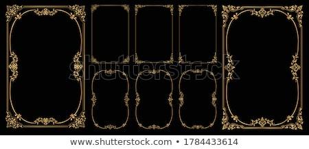 Gouden vintage frames hoeken ontwerp Stockfoto © blue-pen
