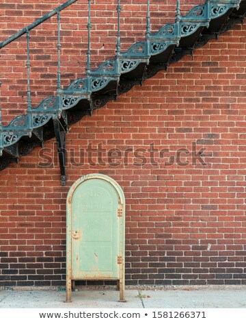 Old weathered staircase and brick wall Stock photo © stevanovicigor