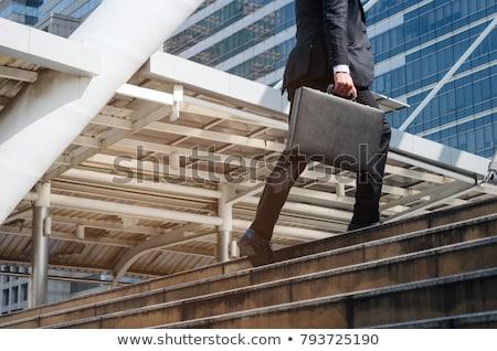 sorridente · homem · de · negócios · desenho · animado · empresário · executivo · comunicação - foto stock © rastudio
