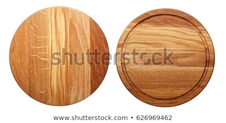 fehér · fából · készült · vágódeszka · ovális · festett · tiszta - stock fotó © Digifoodstock