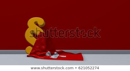 nagrobek · banderą · 3D · śmierci · kamień - zdjęcia stock © drizzd