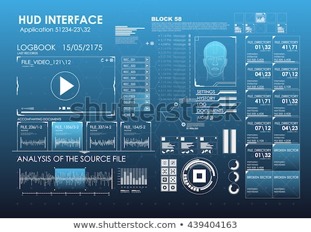 Futuristic virtual graphic touch user interface elements. vector Stock photo © Andrei_
