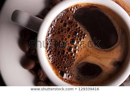 kahve · bisküvi · fincan · siyah · kahve · dizüstü · bilgisayar · kalem - stok fotoğraf © manera