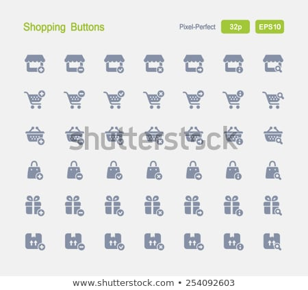 shopping carts   granite icons stock photo © micromaniac