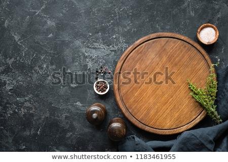 Siyah zeytin sarımsak görmek şarap elma Stok fotoğraf © wavebreak_media