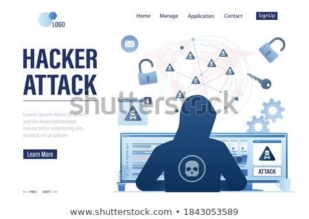 Padlocks front and back Stock photo © bluering