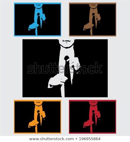 biznesmen · rękaw · garnitur · młody · człowiek - zdjęcia stock © feedough