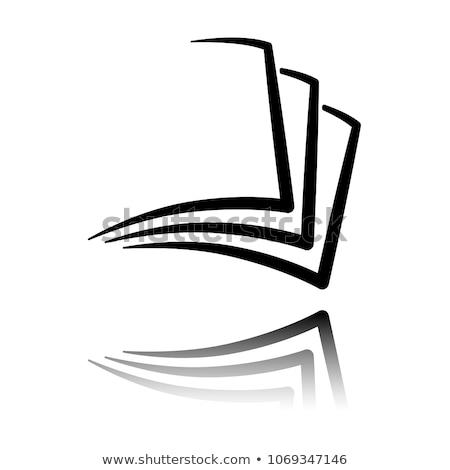 Iratok mappa ikon papír jegyzet emlékeztető Stock fotó © Andrei_