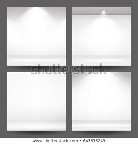 Сток-фото: Empty White Photo Studio Interior Background Set Clean Iight Interior Scene Mock Up Realistic Empt