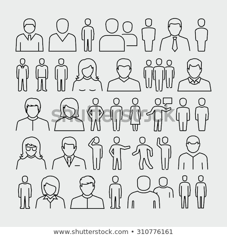 Fino linha pessoas diferente idade Foto stock © Genestro