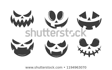 pumpkin with scary face for halloween Stock photo © LightFieldStudios