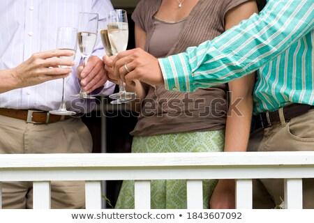 çift şampanya cam restoran Stok fotoğraf © wavebreak_media