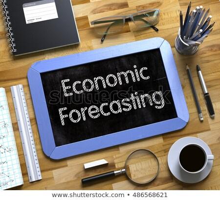 Económico pronóstico pequeño pizarra 3D azul Foto stock © tashatuvango