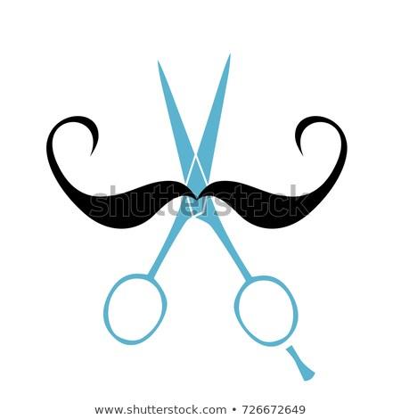 vecteur · carte · moustache · cancer · conscience · événement - photo stock © rastudio