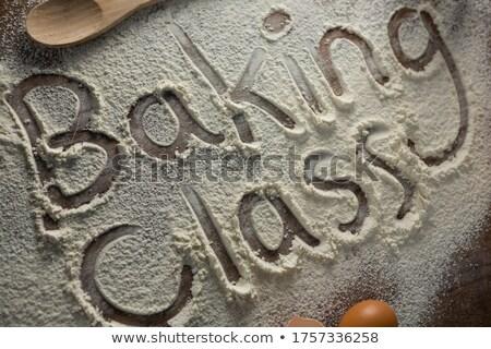 Palabra clase escrito harina primer plano Foto stock © wavebreak_media