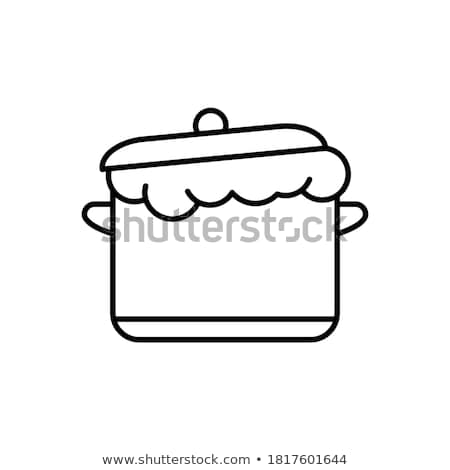 Dough in saucepan isolated. Food vector illustration Stock photo © popaukropa