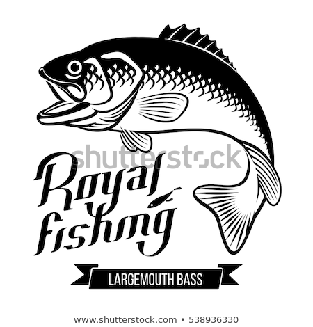 silhouette fishing with an open mouth Stock photo © Olena