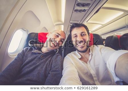 Avião voador brilhante jornada negócio céu Foto stock © JanPietruszka