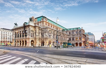 vienna state opera house at night stock photo © tommyandone