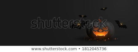 halloween · flyer · design · grand · lune · eps - photo stock © limbi007