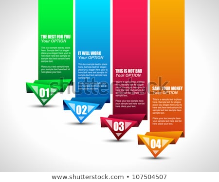 four options banner design with different colors Stock photo © SArts