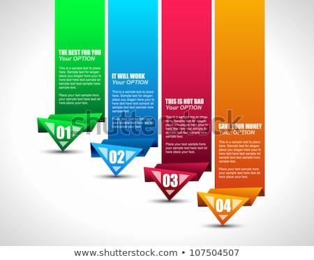 Négy lehetőségek szalag terv különböző színek Stock fotó © SArts