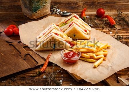Stockfoto: Groenten · top · verse · groenten · avocado · houten